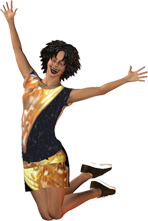 transparent woman jumping for joy png image